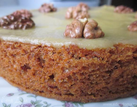 Морковный торт (постный)