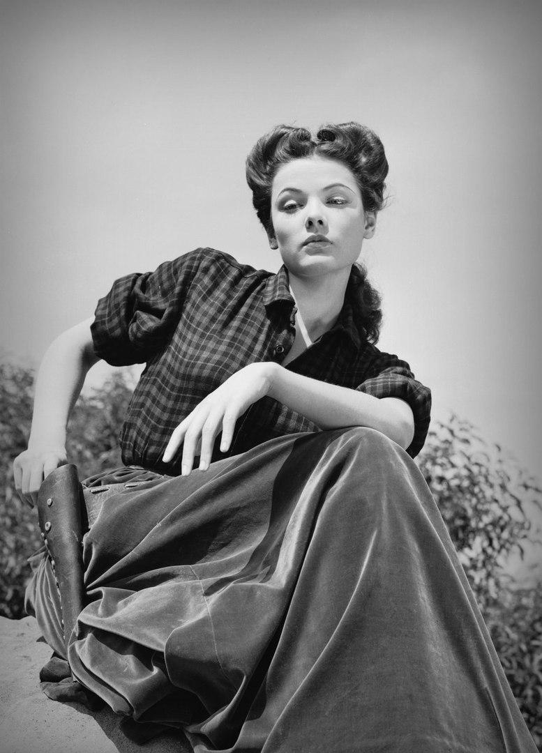 Джин Тирни в фильме «Белль Старр» (1941).