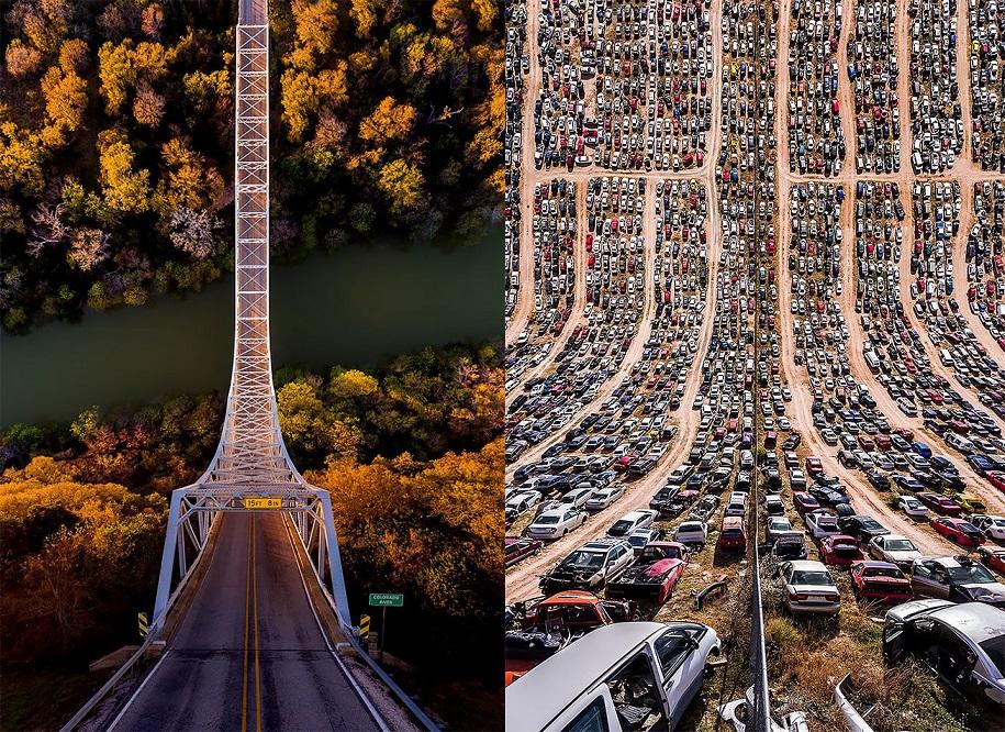 Оригами 80-го уровня: турецкий фотограф сгибает города