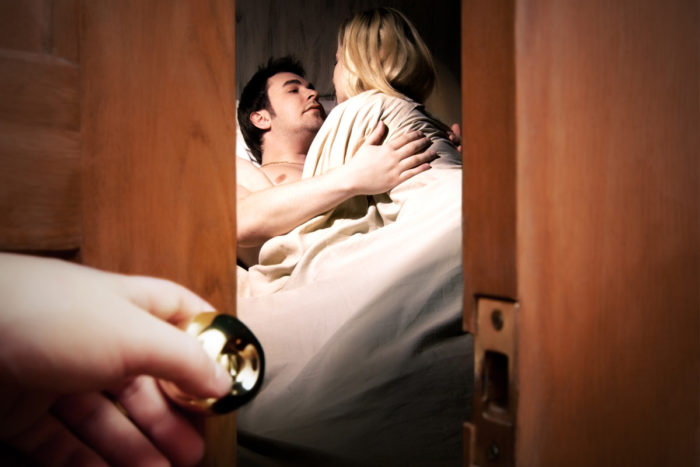 Жена застала мужа с другой. …