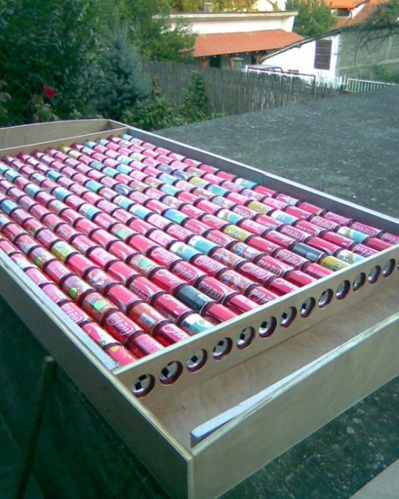 Как из пустых пивных банок сделать солнечный коллектор (11 фото + видео)