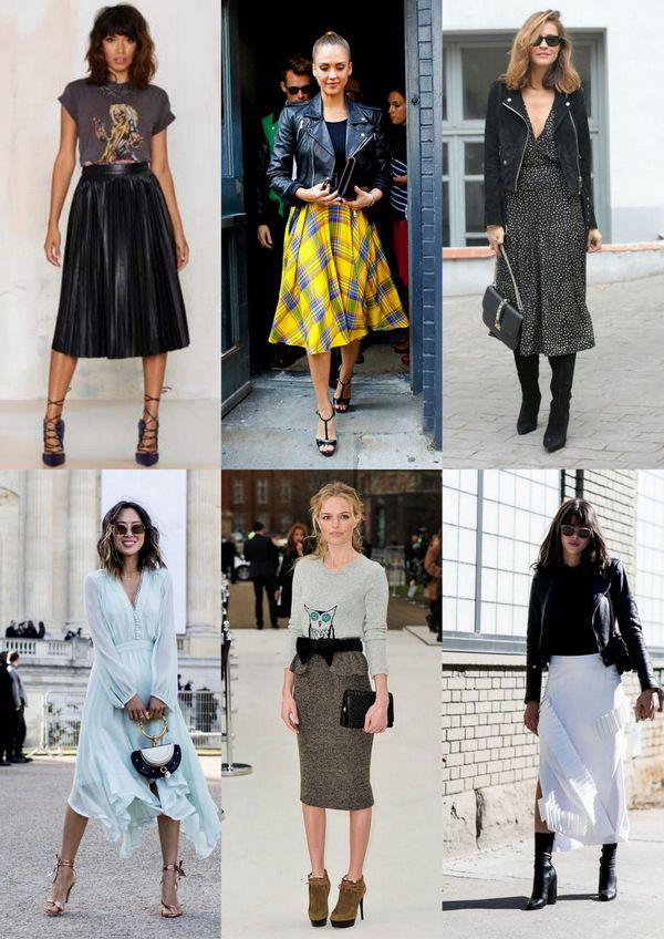 Юбки и платья миди: 8 способов выглядеть шикарно и современно