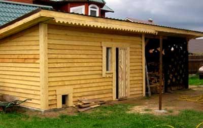Строительство каркасного деревянного сарая