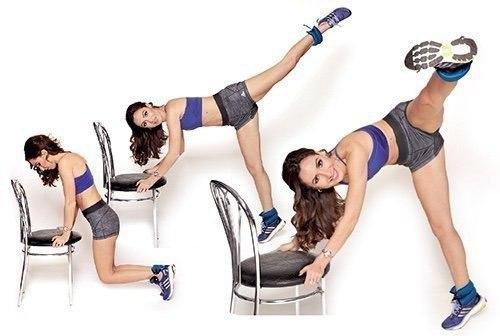 Тренировка со стулом для стройности бедер