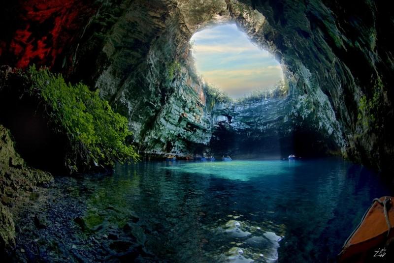 Пещера Мелиссани, остров Кефалония, Греция дух, захватывает, красота