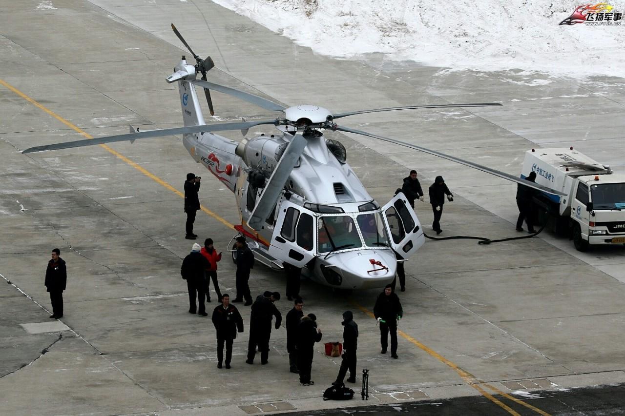 Первый полет китайского вертолета AC352