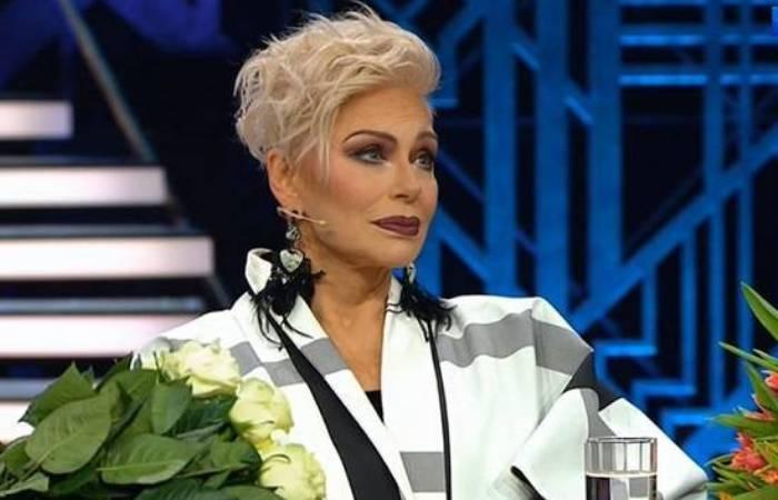 Ирина Понаровская в программе Андрея Малахова в конце 2018 г.   Фото: paparazzi.ru