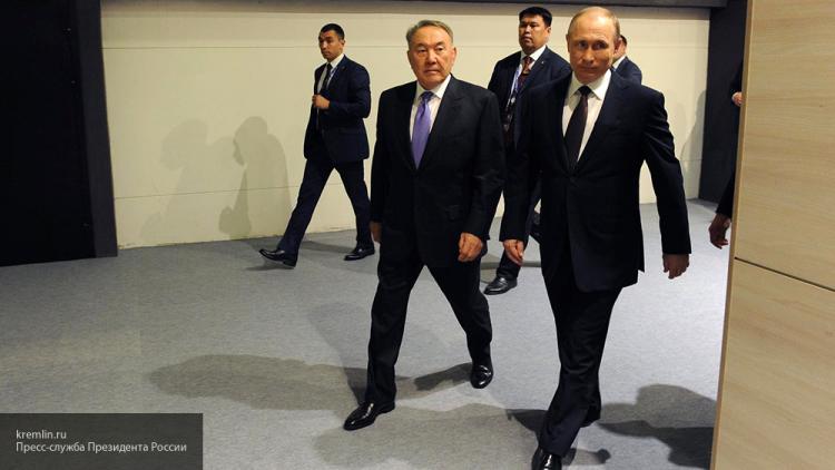 Президенты России и Казахстана пообщались в неформальной обстановке