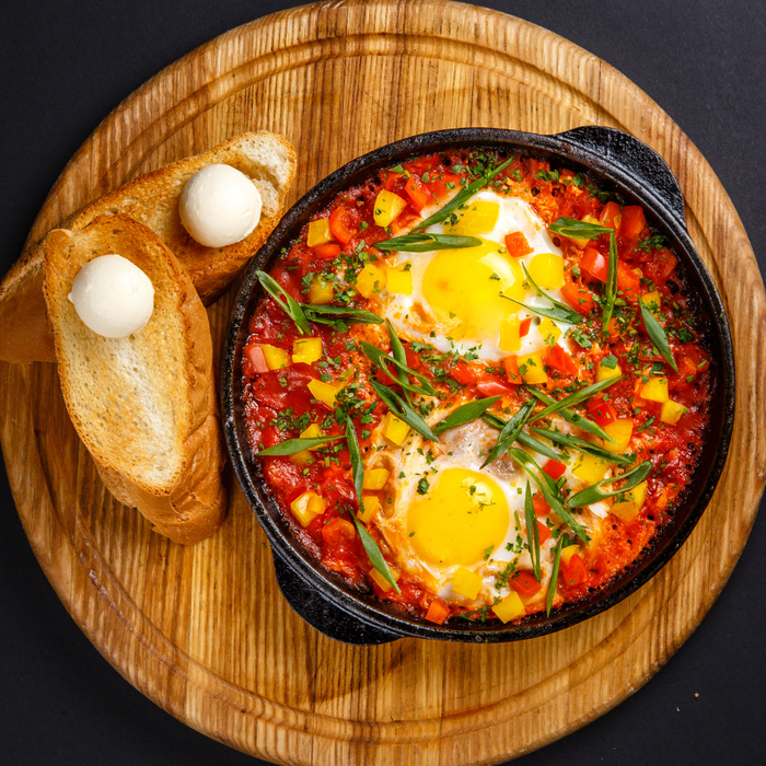 Всего лишь яичница на завтрак. Два варианта. Шакшука, Длиннопост, Яичница, Омлет, Рецепт, Кулинария