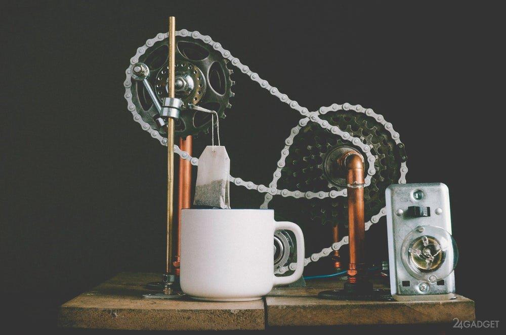 Машина для заваривания чая в пакетиках (3 фото + видео)
