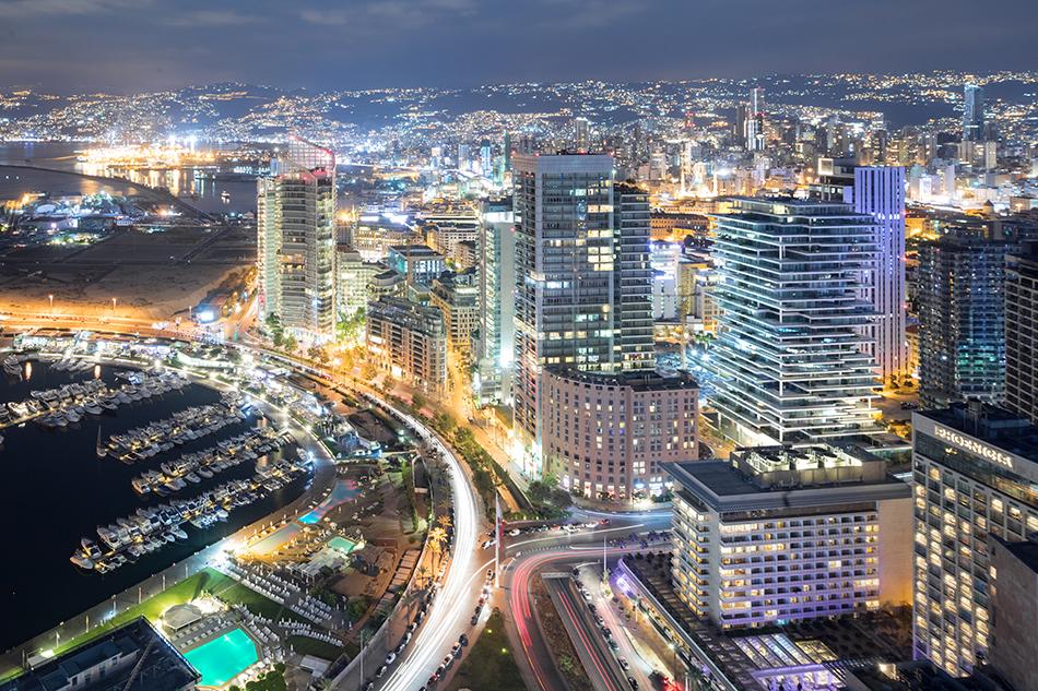 Слоеный стиль нового жилого комплекса в Ливане