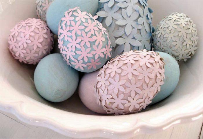 Декор яиц к грядущему празднику Пасхи