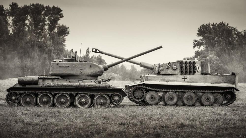 Пушки Т-34-76 и Т-34-85 против брони «Тигра» Т-VI