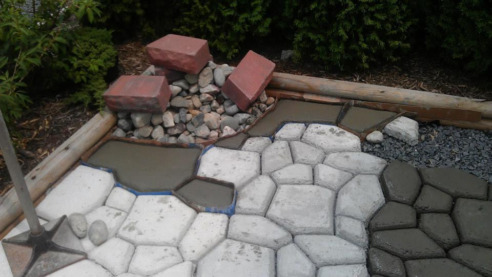 Как сделать цемент для садовой дорожки 367