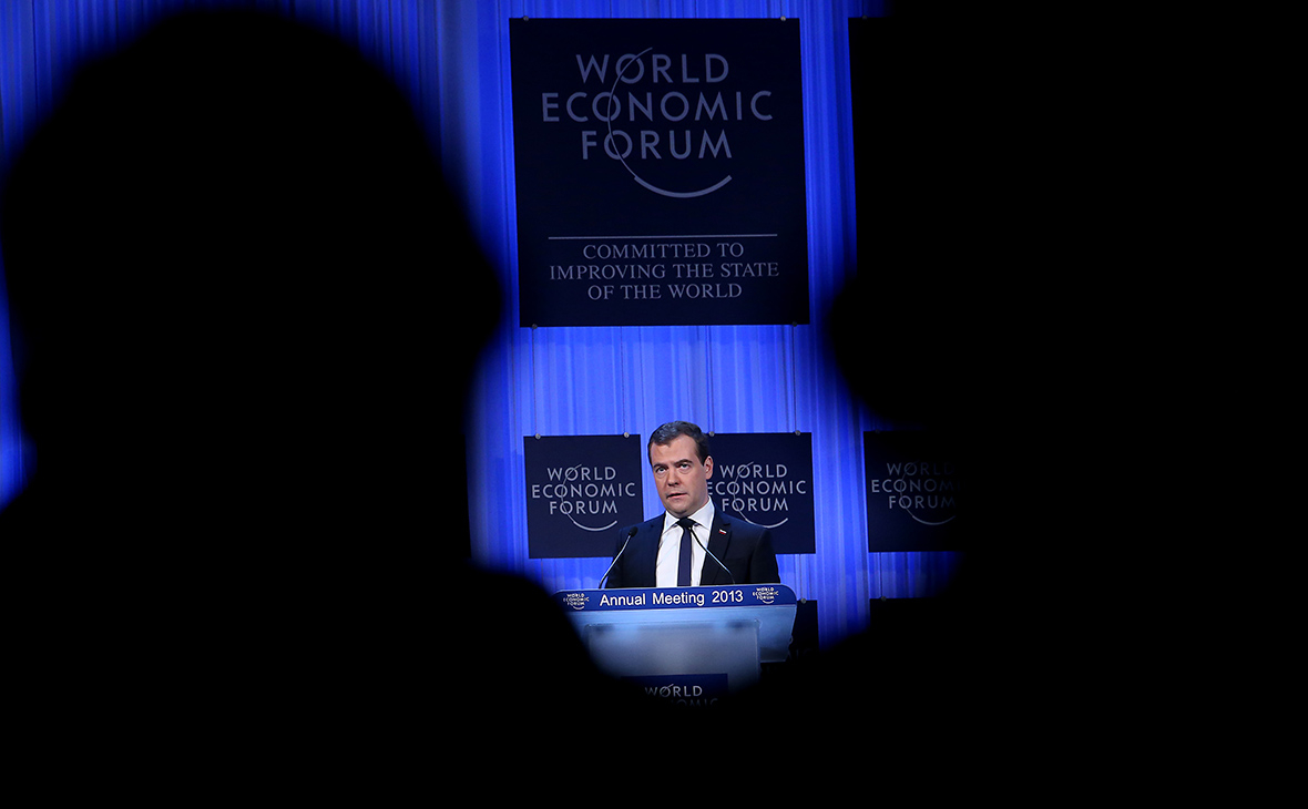 Медведев пригрозил отказом России от участия в Давосе