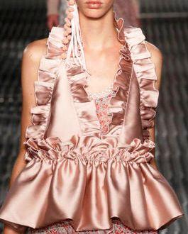 Модные тенденции — страсти по рюшам на Неделе моды в Милане