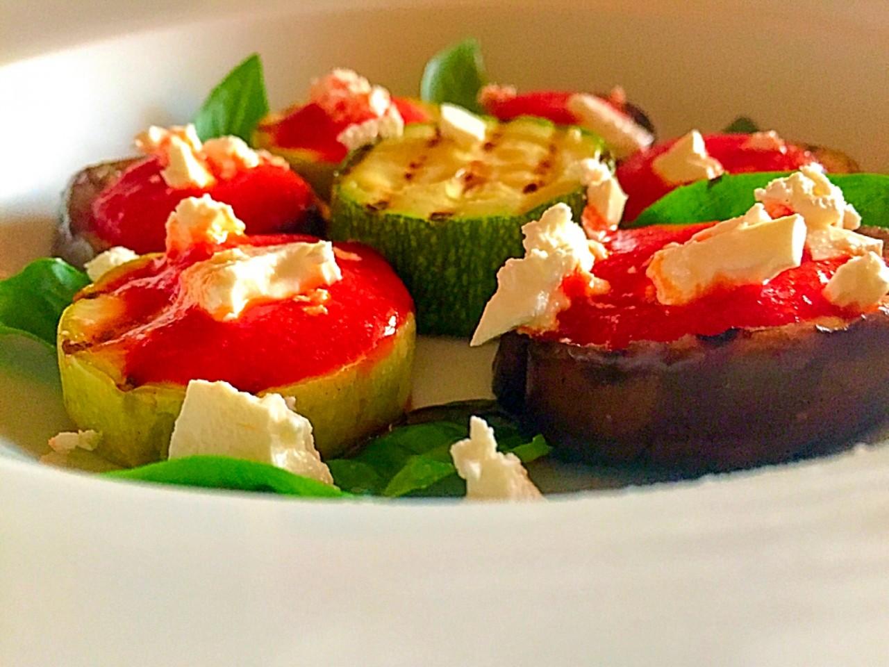 Овощи под вкусной заливкой