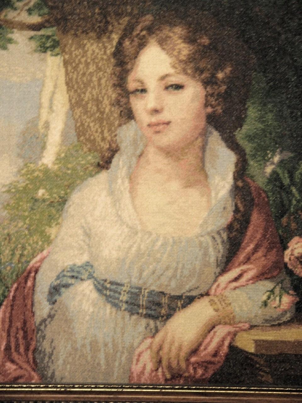 Схема вышивки крестом портрета неизвестной