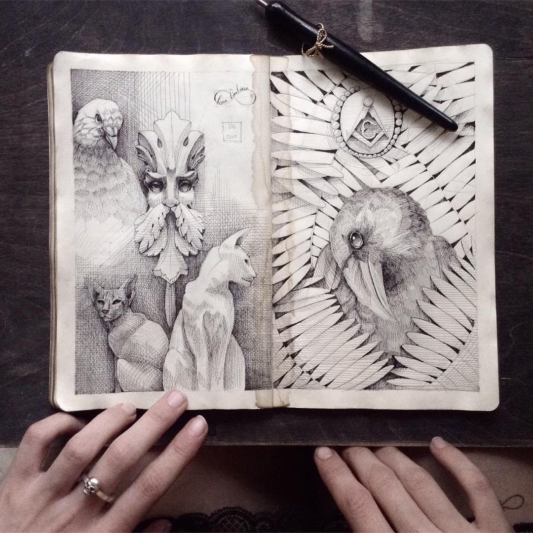 Элегантные иллюстрации Елены Лимкиной