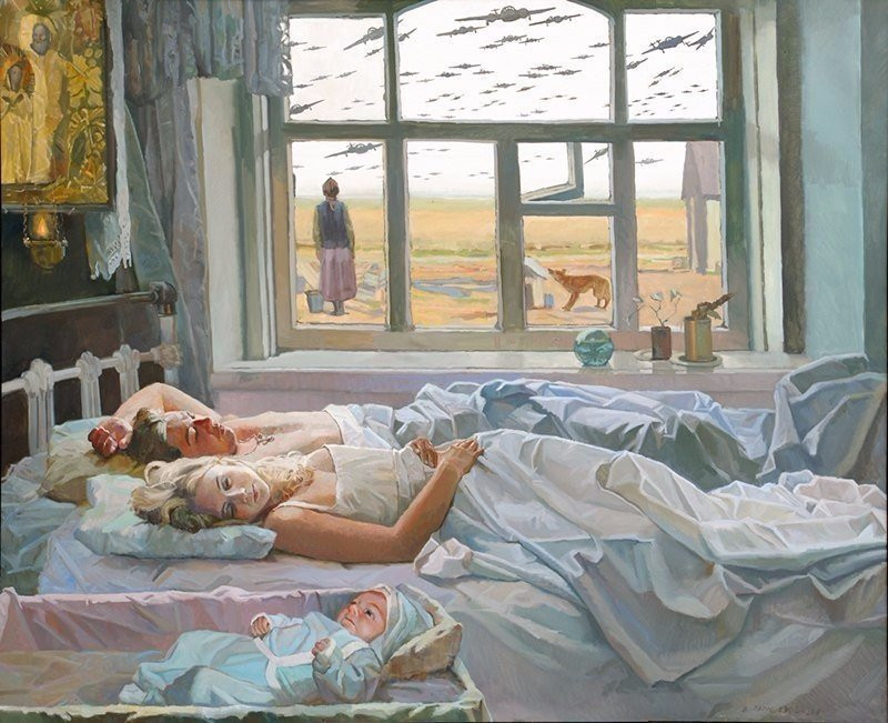 Картина, от которой мурашки по коже Папко Валентин Фёдорович «Даже не снилось. 22 июня 1941»