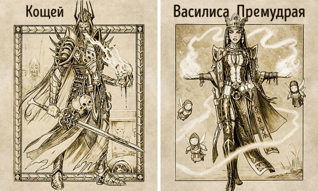Художник нарисовал персонажей русских народных сказок и сделал это смело
