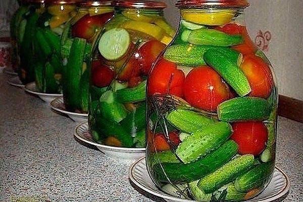 Овощное ассорти с водкой (Без стерилизации)