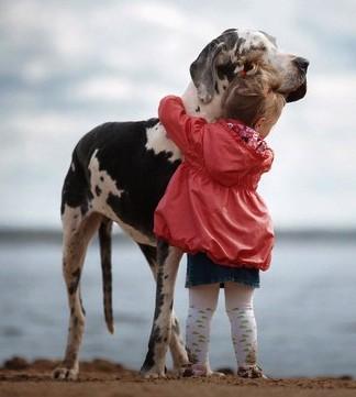 Маленькие дети и их большие собаки. Трогательный фотопроект