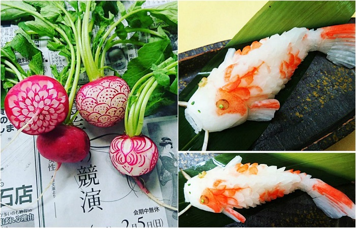 Фруктово-овощной карвинг: 20 замысловатых узоров от японского художника-виртуоза