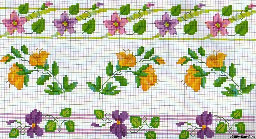 Схема для вышивки бордюр