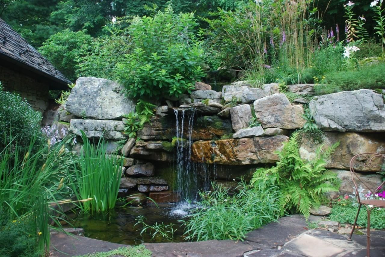 Водопады дворовые своими руками