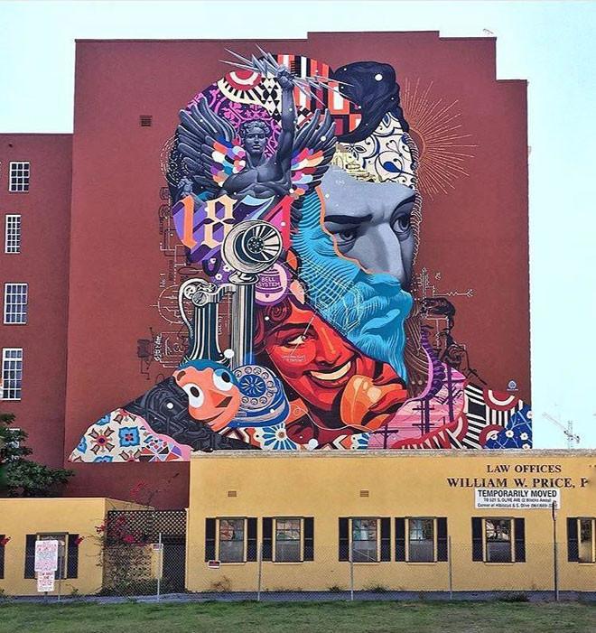Tristan Eaton (США) в мире, граффити, интересное, искусство, подборка, стрит-арт, уличное искусство