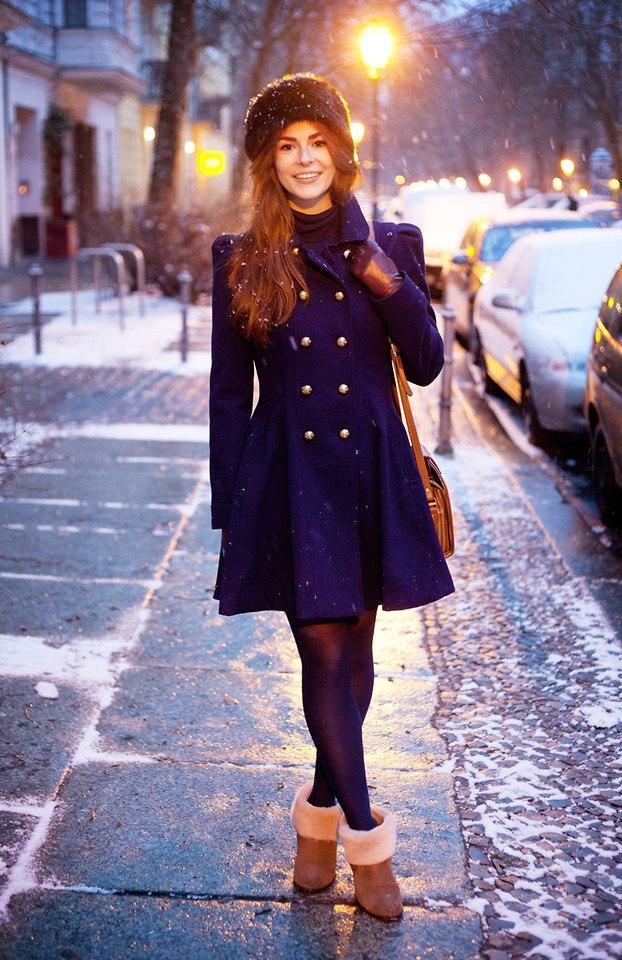 С чем носить грубые ботинки зимой