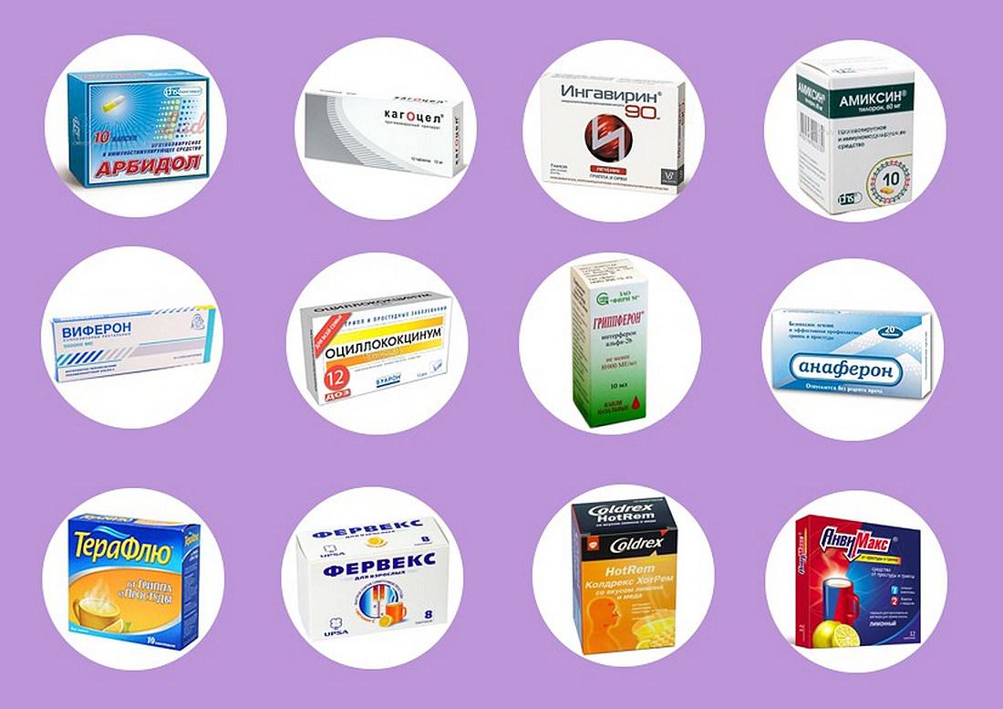 Тринадцать самых популярных лекарств от гриппа