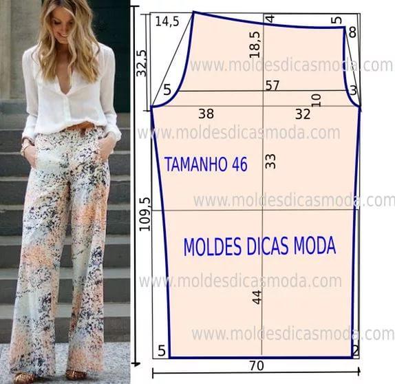 Бохо выкройки женских брюк размер от 40 до 64
