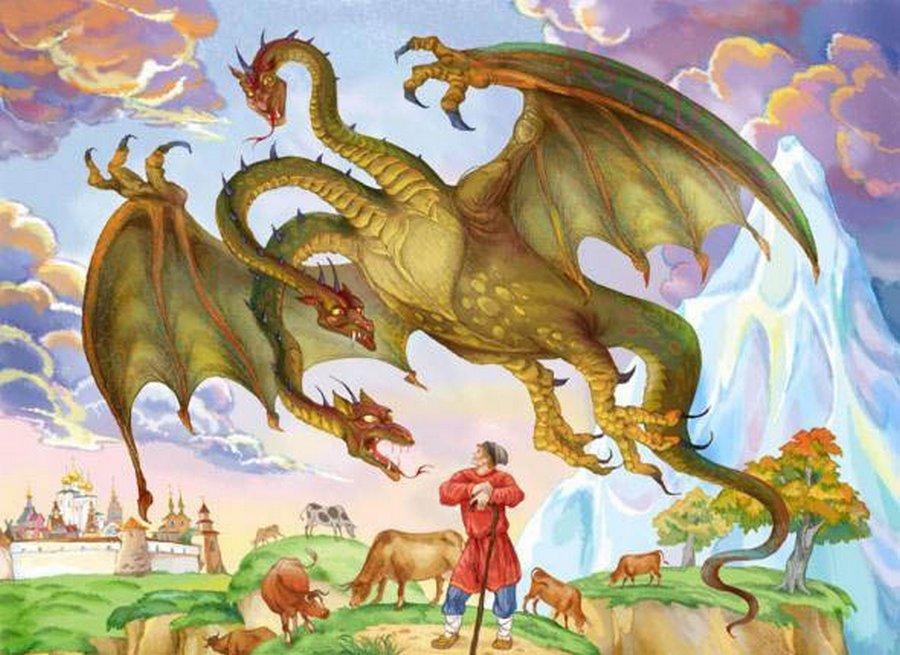В России в 1719 году с неба падали драконы