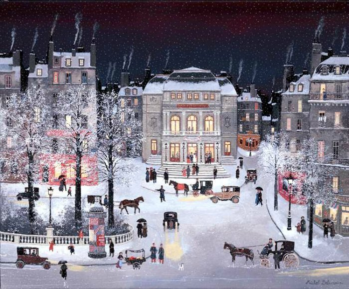 А снег идёт.  Автор: Michel Delacroix.