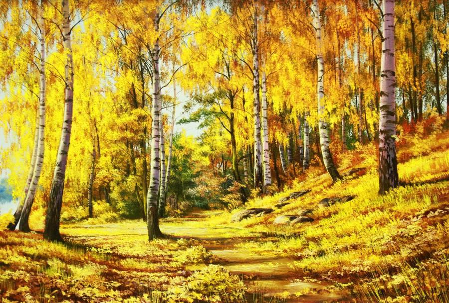 Осень в небо поднимается легкой птицей... Художник Былич Александр