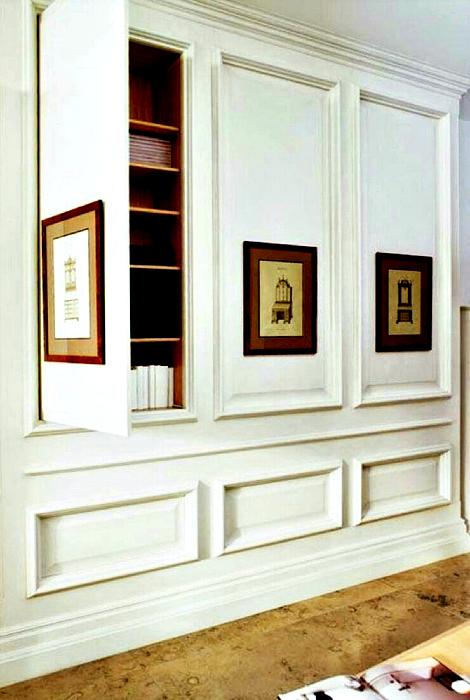 Шкафы, встроенные в стены.