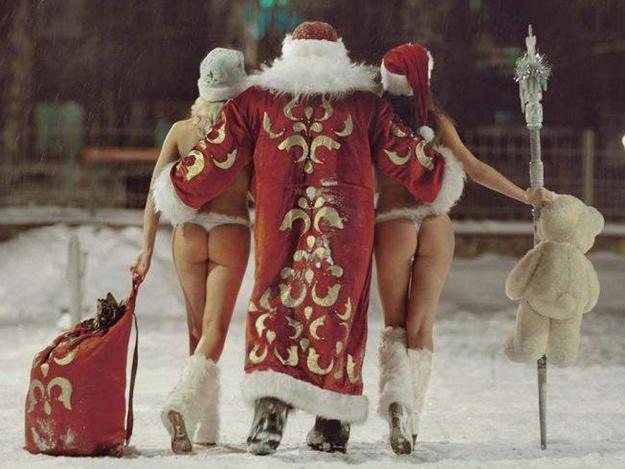 По - Дед Морозовски...