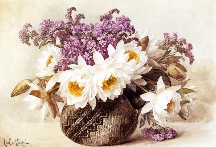 Цветочное дуновение — прелестные натюрморты художника Поля де Лонгпре(Paul De Longpre)