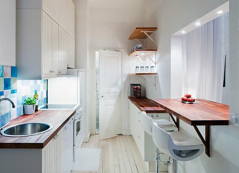подоконник столешница на кухне