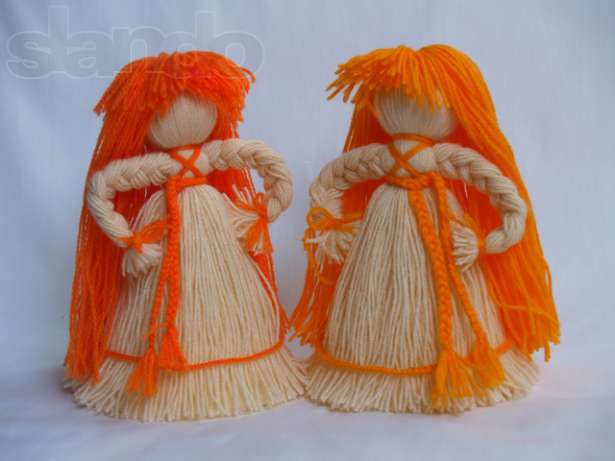 Куклы из ниток своими руками с фото