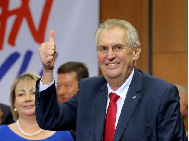 Милош Земан выиграл президентские выборы в Чехии
