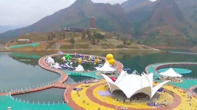 Очередное чудо света - китайская плавающая дорожка