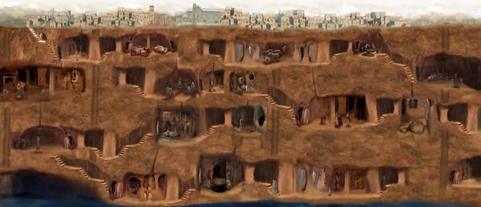 Подземный город Деринкую. Каппадокия. Турция Турция, Подземный город, Длиннопост