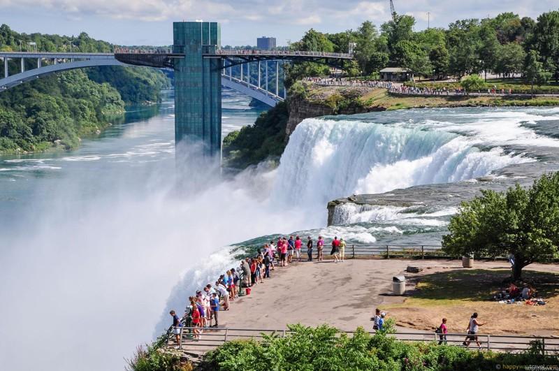Ниагарский водопад, штат Нью-Йорк, США город, длиннопост, подборка, природа