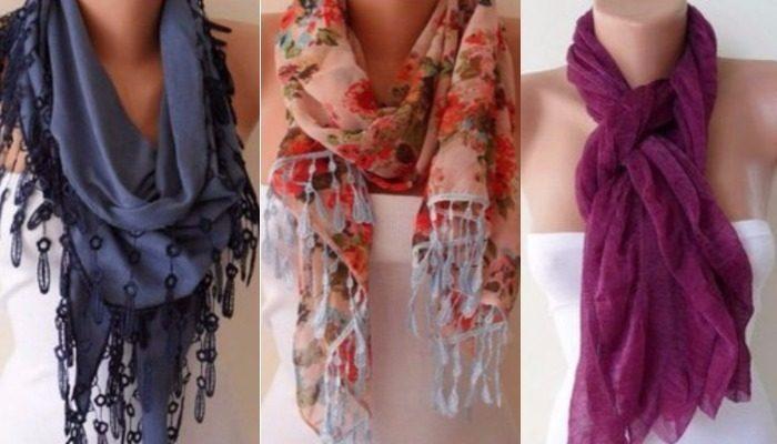58 лучших вариантов, как носить женский шарфик