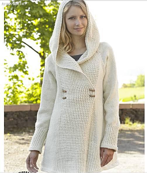 Фото схемы вязания пальто 45