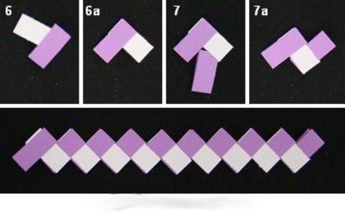Как сделать цепи из бумаги