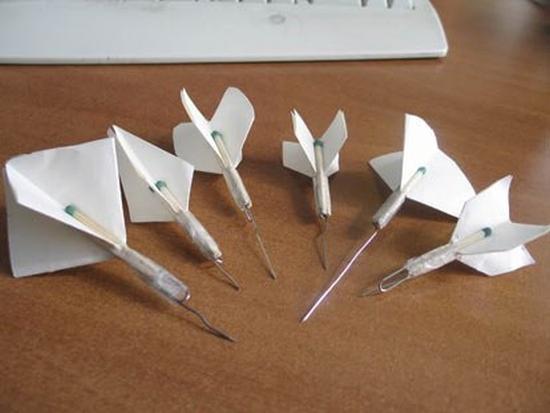 Как сделать дротик с бумаги
